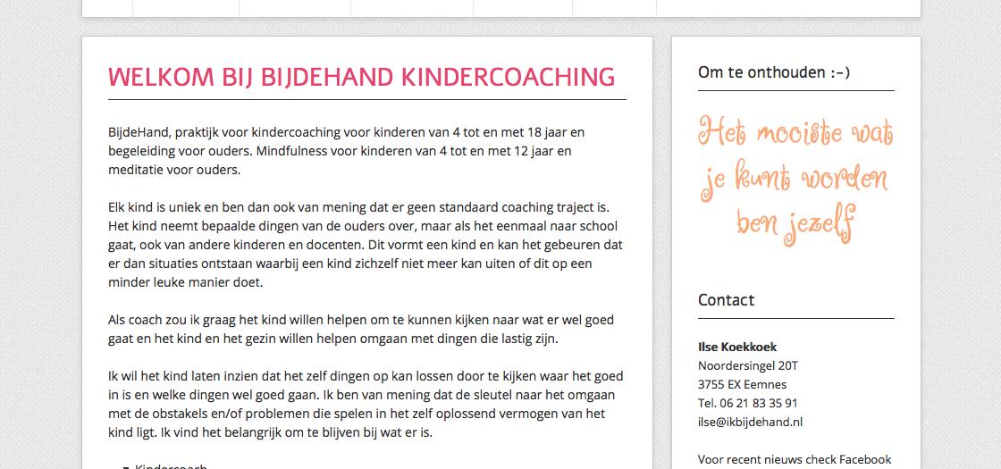 BijdeHand Kindercoaching