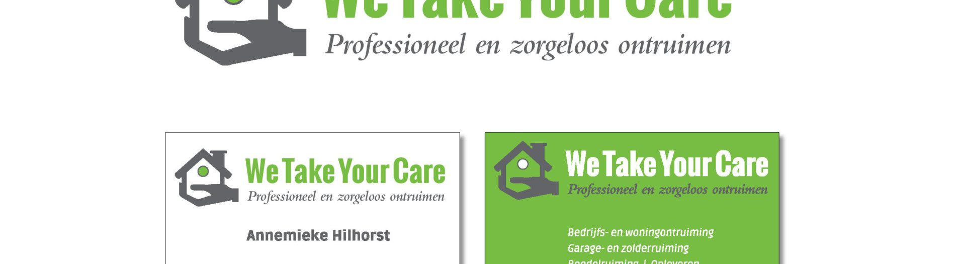 Ontwerp logo en visitekaartje We Take Your Care