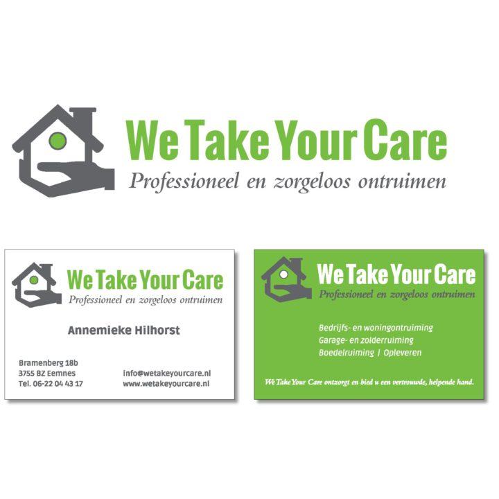 Ontwerp logo en visitekaartje We Take Your Care