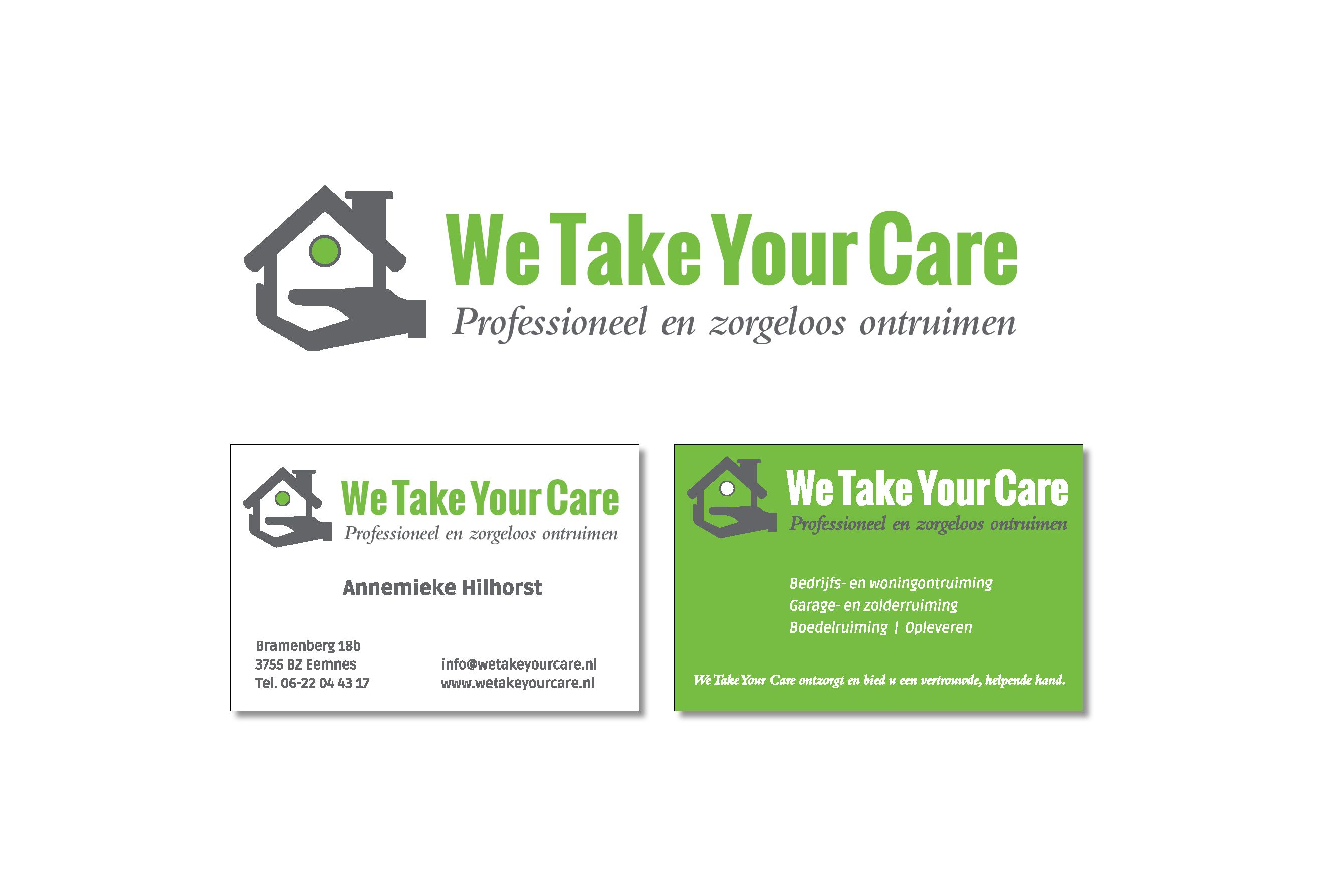 Huisstijl 'We Take Your Care'