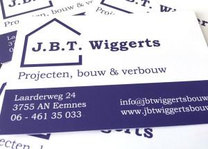 JBT Wiggerts visitekaartjes