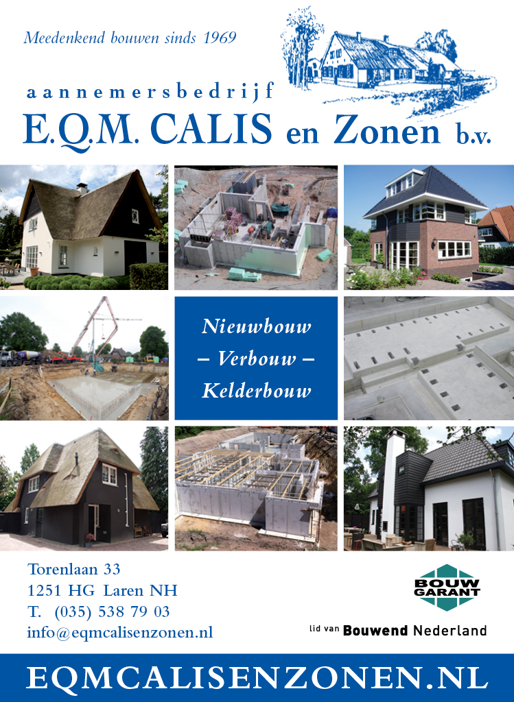 Advertentie magazine EQM Calis en Zonen