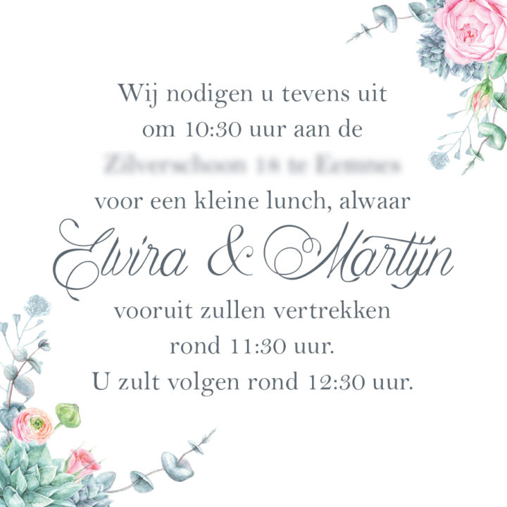 Ontwerp trouwkaart en Save the Date