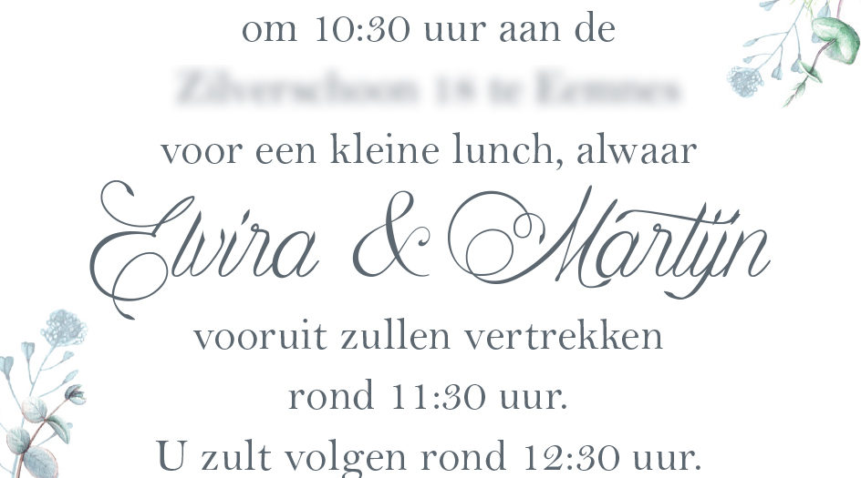 Ontwerp trouwkaart en Save the Date