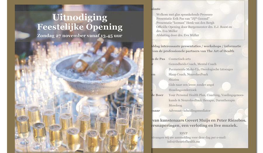Uitnodiging opening 'The Art of Health'