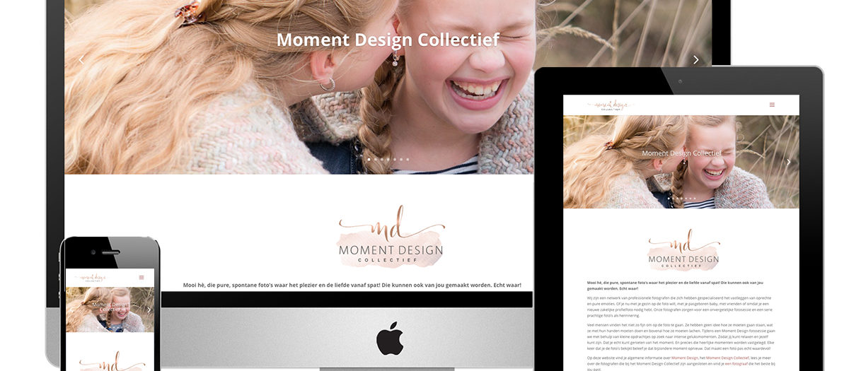 Website Moment Design Collectief