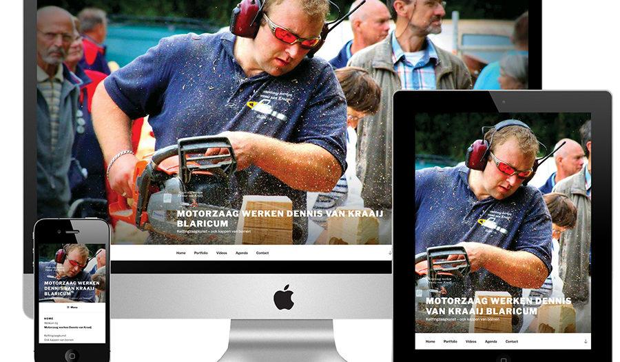 Logo en website Motorzaag werken Dennis van Kraaij