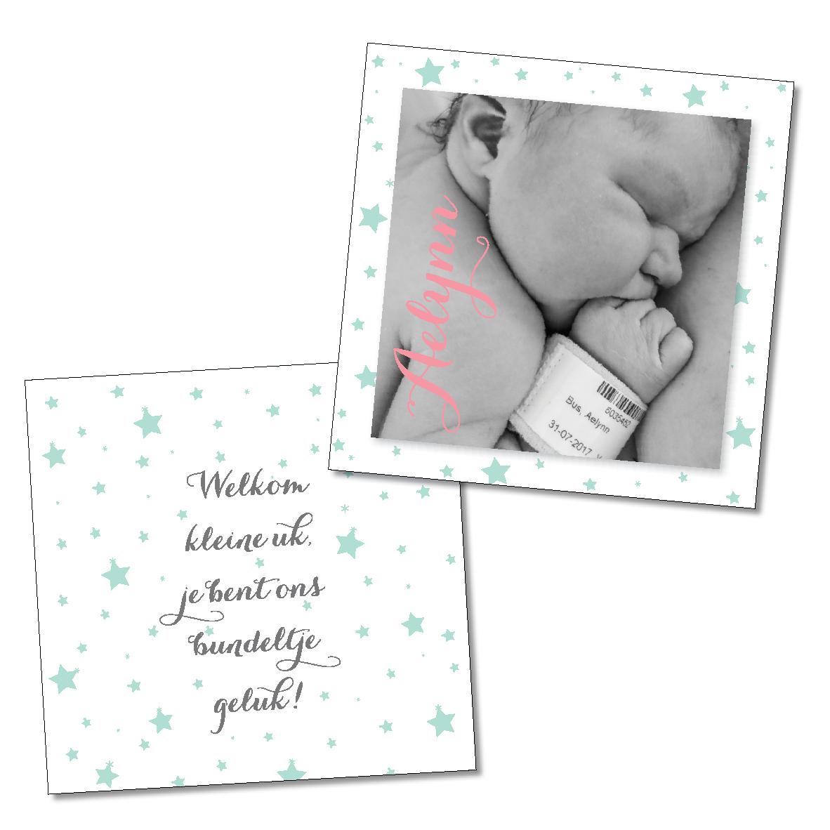 Ontwerp eigen geboortekaartje
