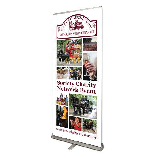 Ontwerp folder en banner voor de Gooische Koetsentocht