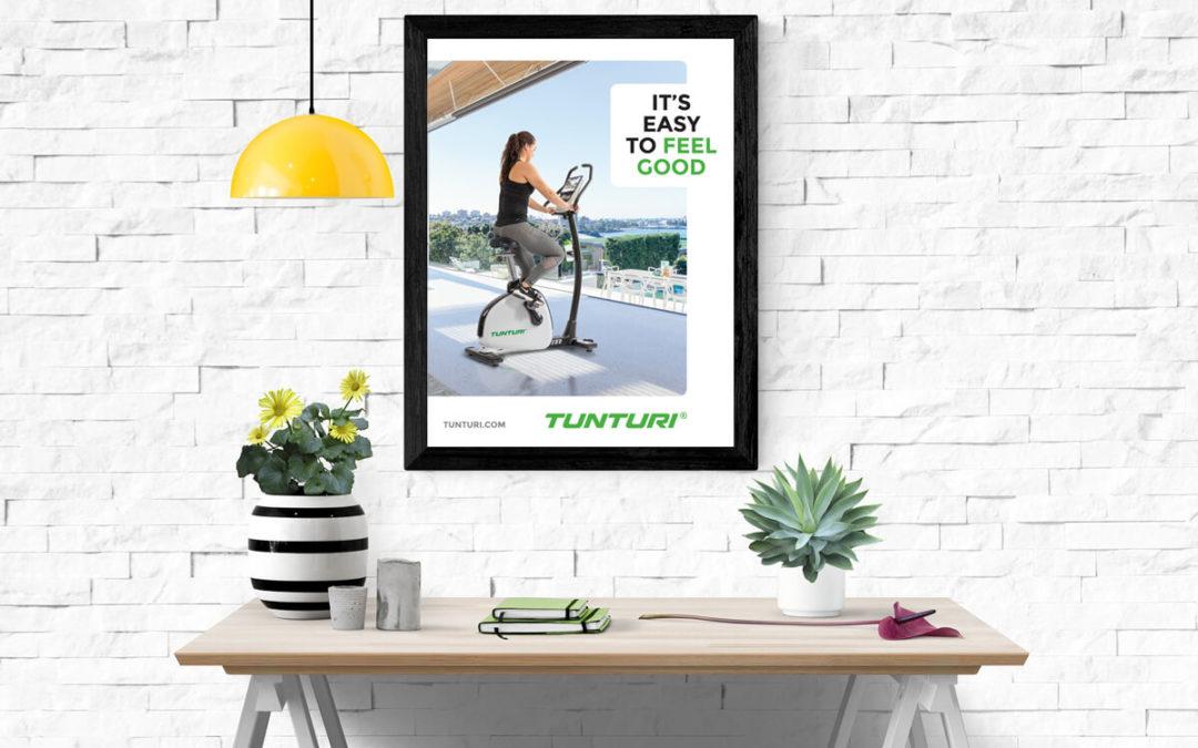 Ontwerp design poster Tunturi Fitness – Almere