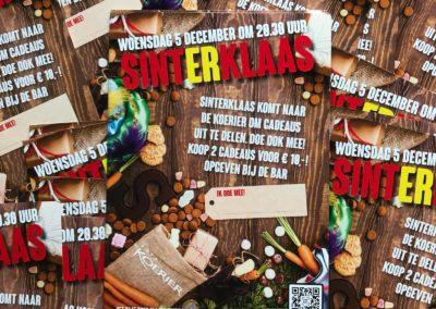 Sinterklaas Flyer voor Café de Koerier