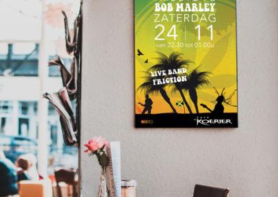 ontwerp poster cafe kroeg koerier