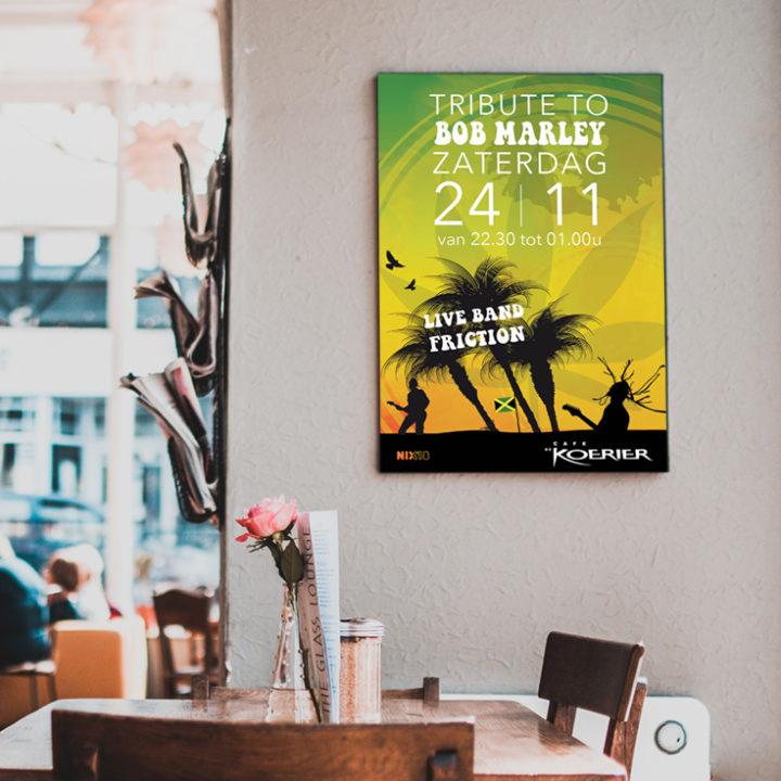 Ontwerp poster Café de Koerier