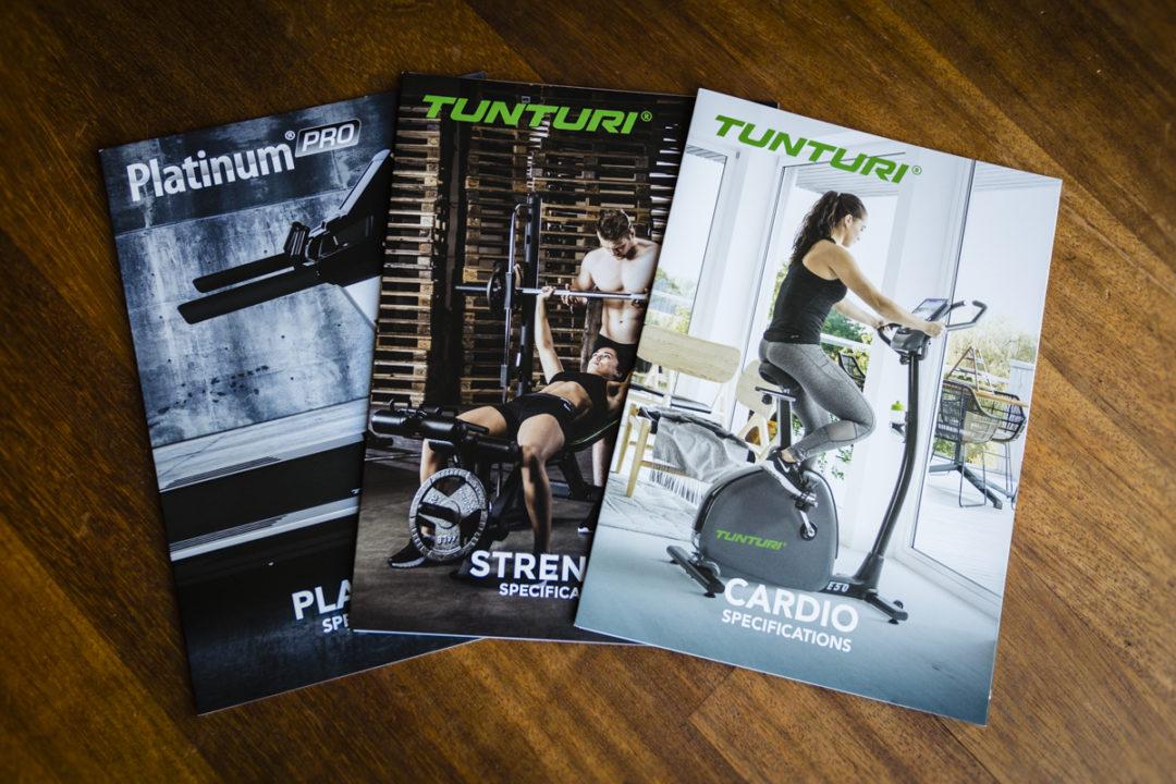 Opmaak brochures Tunturi Fitness Almere