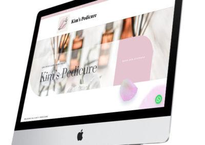 Website van een Pedicure